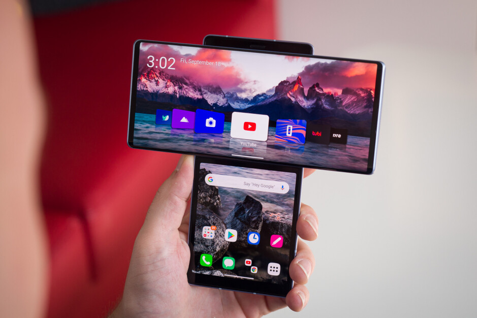 LG was famous for its smartphone experiments. Here we see the LG Wing with its two displays - LG announces foldable display coating that is as hard as glass, reduces creasing