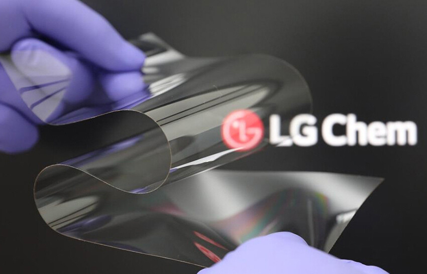 LG Chem's new folding display coating - LG announces foldable display coating that is as hard as glass, reduces creasing
