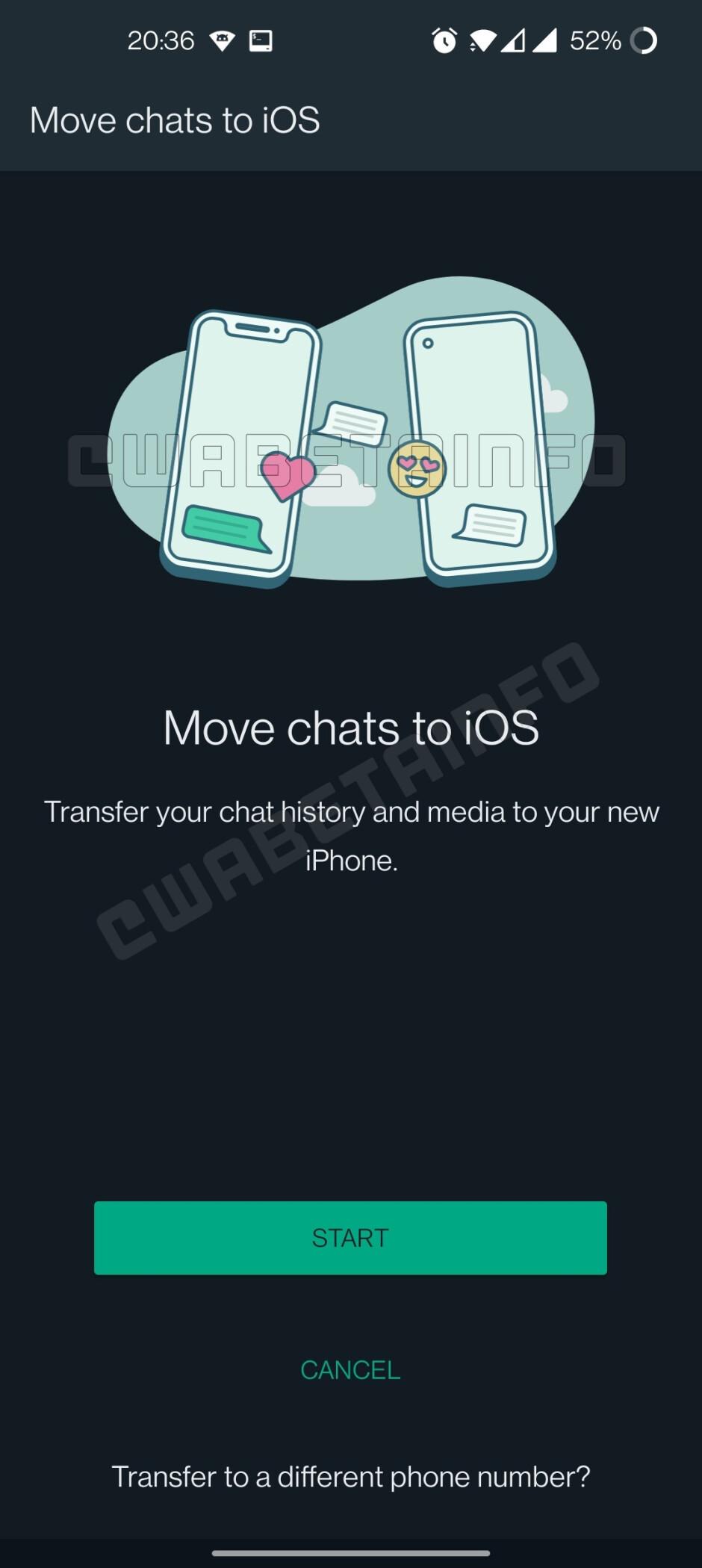 Mudar os chats do WhatsApp do Android para o iOS em breve será uma realidade