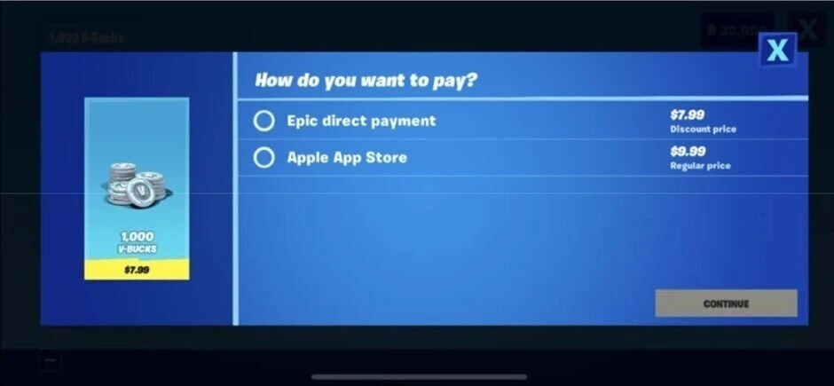 Epic promoted its own payment platform inside Fortnite which violated Apple's App Store regulations - Apple denies Epic's request for App Store reinstatement