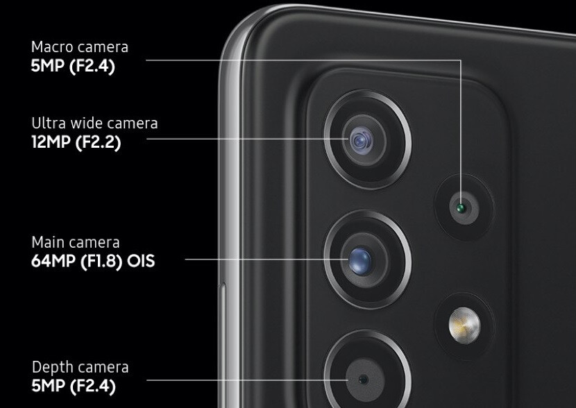The camera array on the back of the Galaxy A52s 5G - Samsung's RAM Plus feature adds virtual memory to a 5G Galaxy handset
