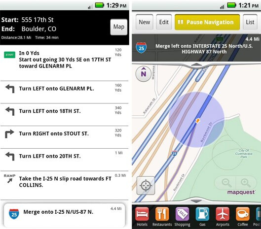 Android is now also seeing free turn-by-turn navigation with the MapQuest app