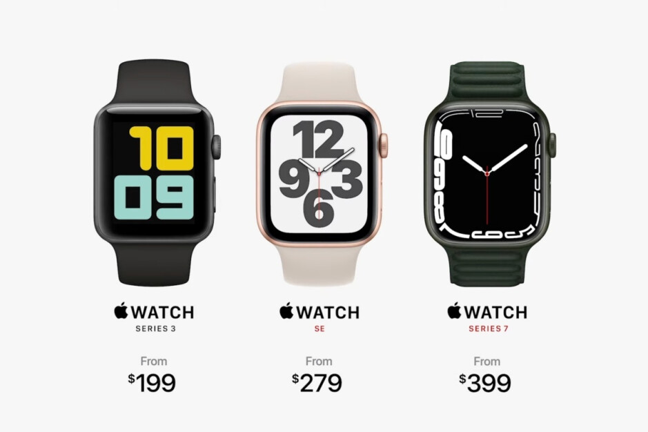 The Apple Watch SE and Series 3 live on, the Series 6 is out of the picture