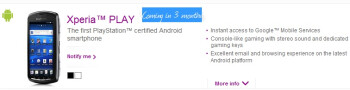 Sony Ericsson Xperia PLAY to grace Verizon in May?