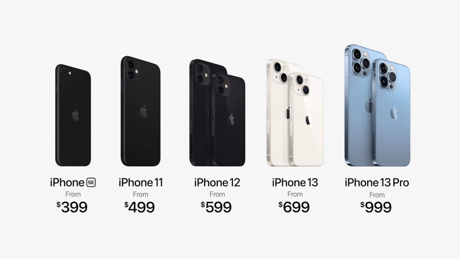iPhone 13/Pro/Max/mini prices - Apple goes big with the iPhone 13: bigger camera, battery, storage, same price