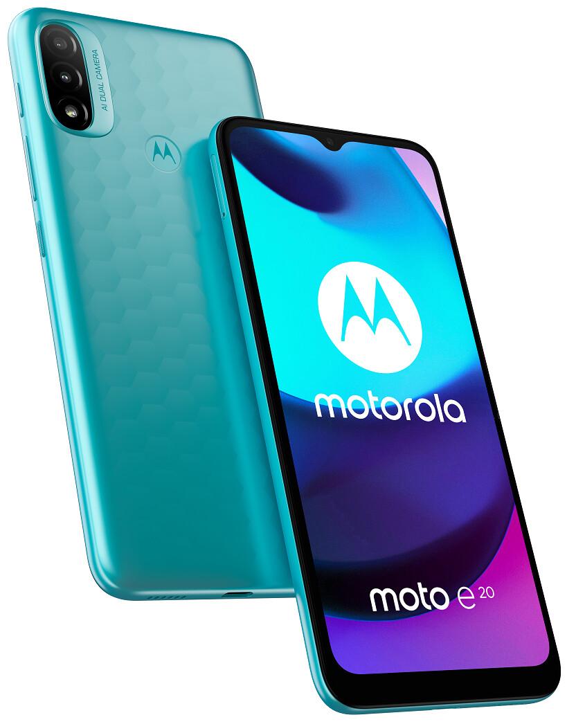 O Moto E20 é o mais novo telefone extremamente acessível da Motorola