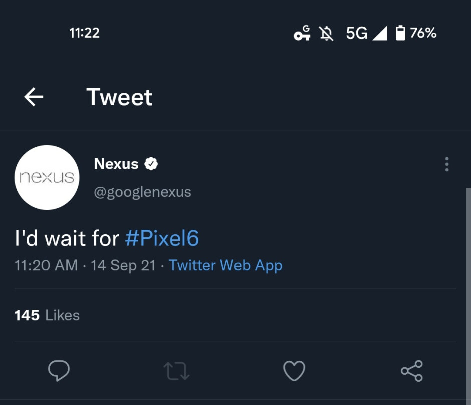 Google fires up the Nexus Twitter account in order to disseminate an important piece of advice - Google blows the dust off of the Nexus Twitter account to give iPhone fans some advice