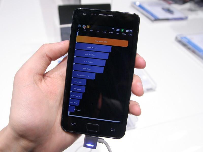 Samsung Galaxy S II scores 1950 on Quadrant - Samsung Galaxy S II hands-on
