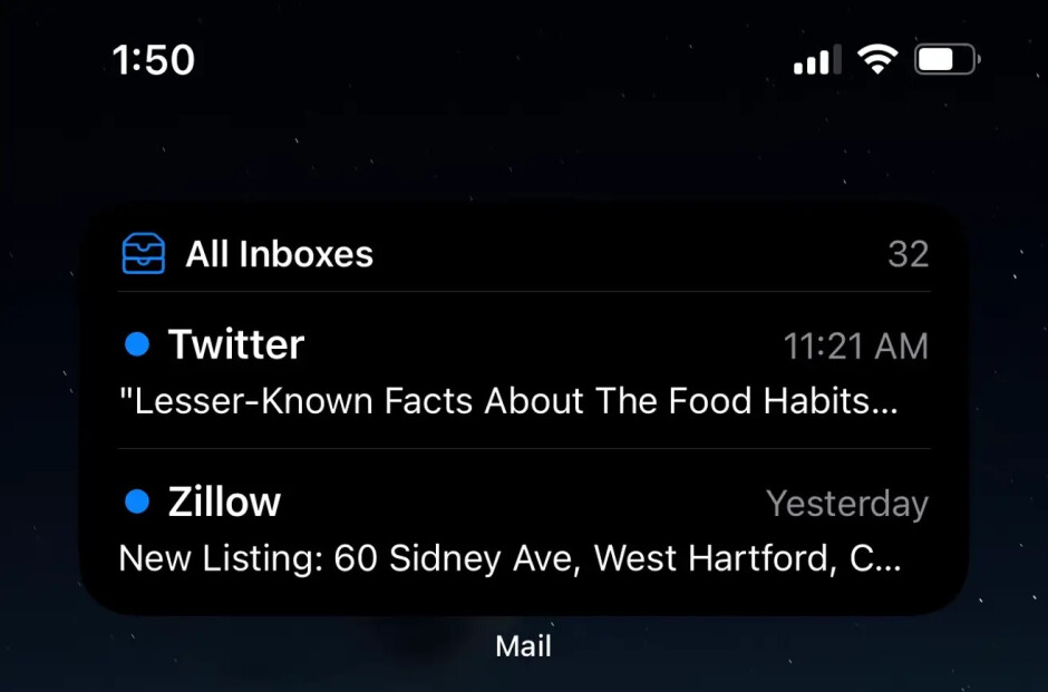 The iOS Mail app get its own widget in iOS 15. Image credit-lifehacker - Widget fans, pay attention! New Apple-developed widgets are included in iOS 15