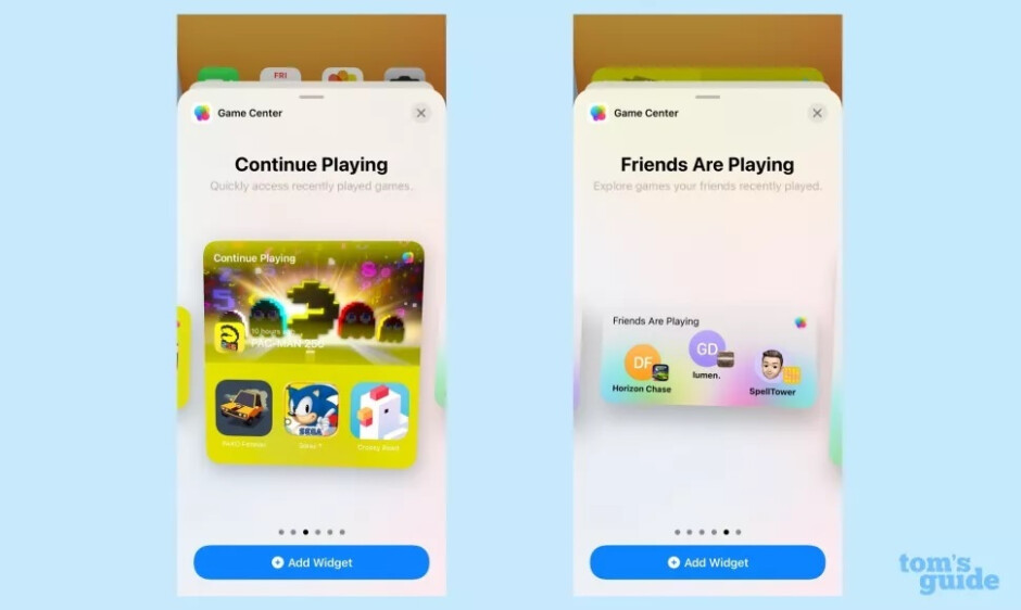 Game Center widget for iOS 15. Image Credit-Tom's Guide - Widget fans, pay attention! New Apple-developed widgets are included in iOS 15