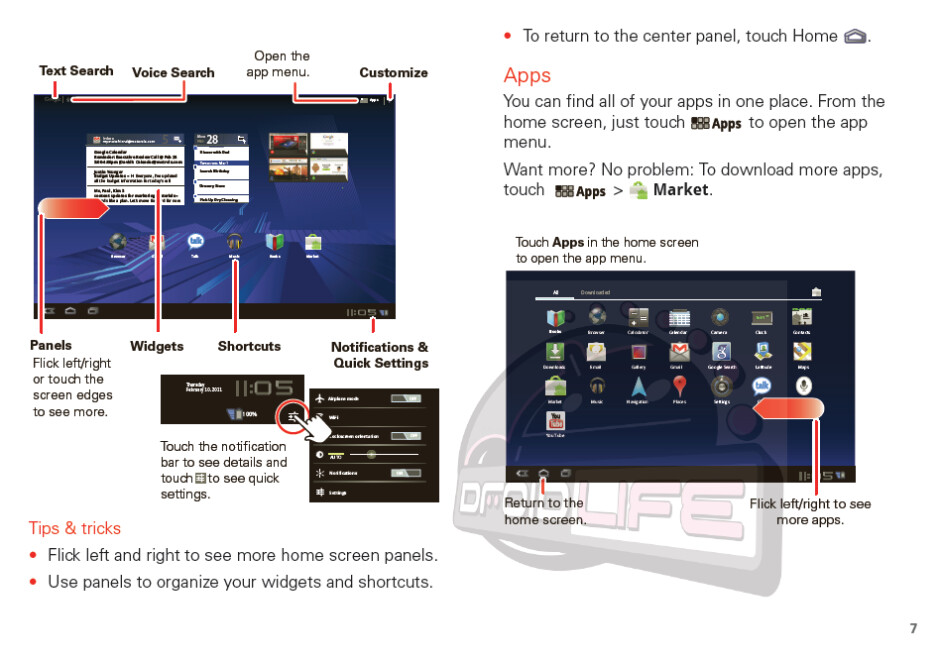 The Motorola XOOM User's Guide has been leaked just days before it's launch at Best Buy - User's Guide for Motorola XOOM is leaked