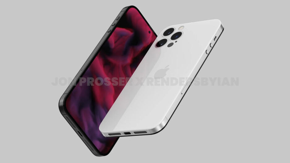 Render of the 2022 iPhone desi - no notch, flush mounted camera module - Gurman: flat-edge Apple Watch could surface eventually; sees new iPad Pro design, AirPods Pro in '22