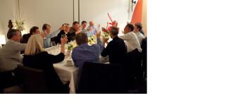 Apple CEO Steve Jobs sat next to President Obama at dinner