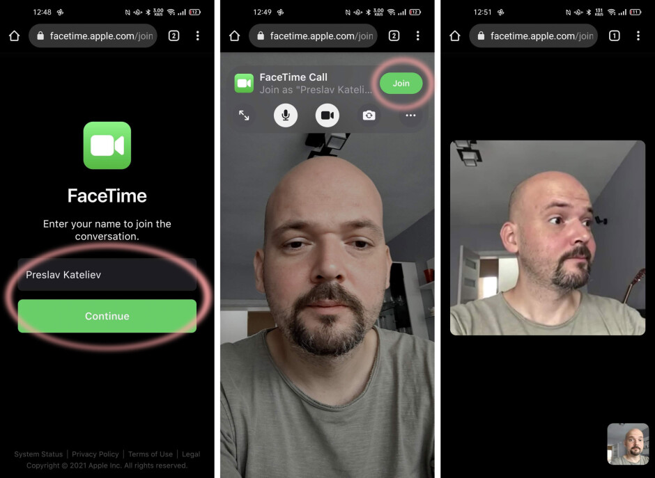 How it looks on Android - How to FaceTime Android users from iPhone