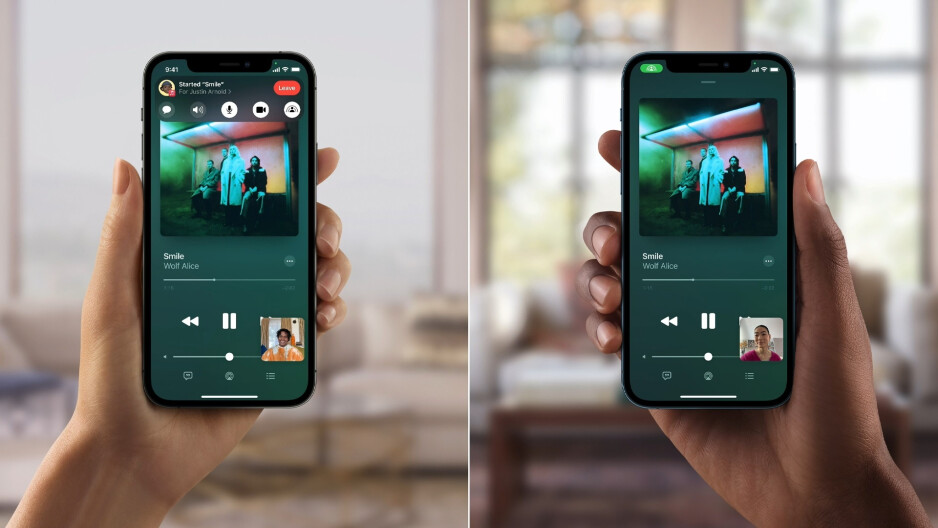 Sharing a tune over FaceTim - One day after iOS 15 is released, Apple pushes out iOS 15.1 beta