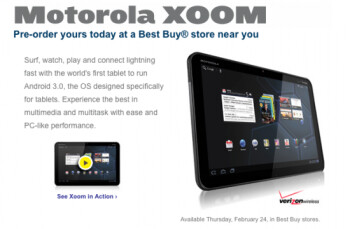 Best Buy pre-order page for the Motorola XOOM is back