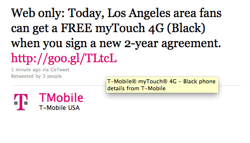 L.A. residents can get a free T-Mobile myTouch 4G with a signed 2 year contract - L.A. residents get offer from T-Mobile for free myTouch 4G for today only