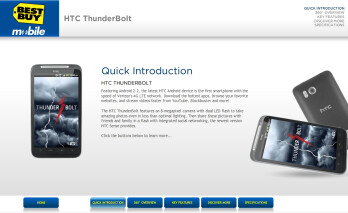 Best Buy shows an on-line simulator of the HTC Thunderbolt