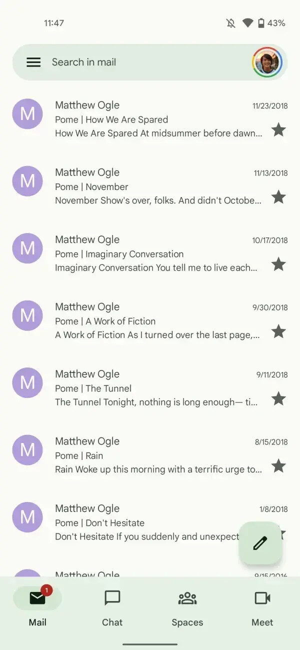 Gmail with Material You on Android 12 - Gmail for Android gets search filters with new update