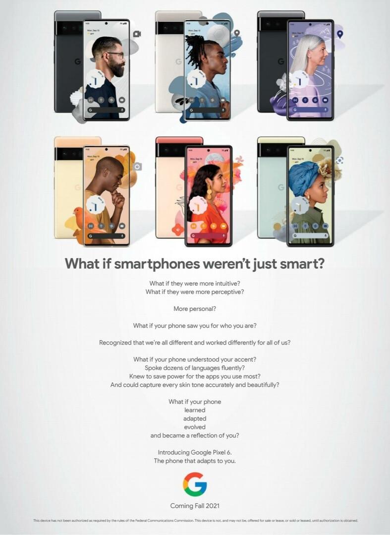 O Google anuncia o Pixel 6 na revista The New Yorker - o Google promove a série 5G Pixel 6 com um anúncio de página inteira na revista