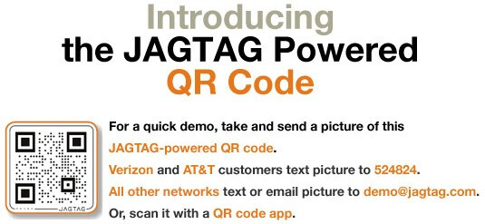 QR codes by JAGTAG allows feature phones to take action on bar codes too
