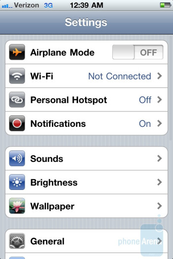 The mobile hotspot function of the Verizon iPhone 4