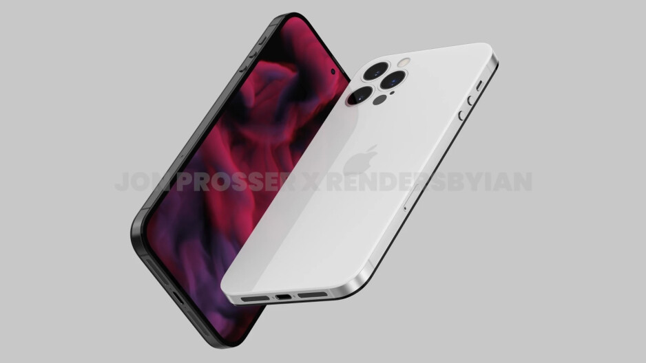 Render of the iPhone 14 Pro variant with flush camera module - Apple reportedly orders more A14 Bionic chips expecting strong demand for the 5G iPhone 13 series