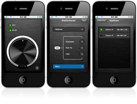 WiFi2HiFi streams music over a Wireless LAN to your iOS device