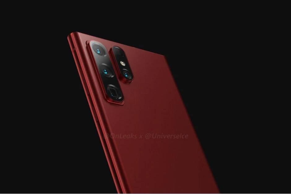 A Samsung também está considerando esse design anteriormente - no entanto, outra fonte diz que o Galaxy S22 Ultra terá um slot para a S Pen, e a estranha saliência da câmera está concluída