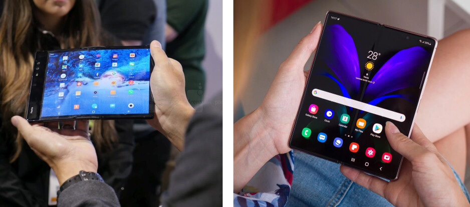 The Royole FlexPai (left) and the Samsung Galaxy Z Fold 2 (right) - Will the Google Pixel Fold usher in a folding phone renaissance?