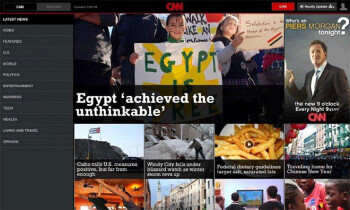 CNN's app for Android tablets running Honeycomb will keep you up to date with a multimedia centric design
