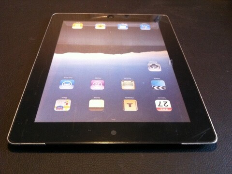 At the top of the device you can see what appears to be the front-facing camera - New pictures of Apple iPad 2 leak