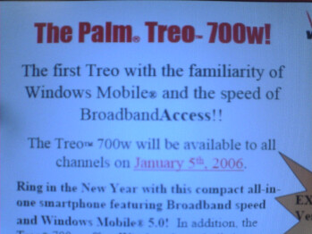 More details about the launch of Treo 700w