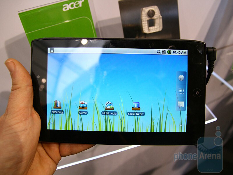 Acer ICONIA TAB A100 Hands-on at MWC 2011