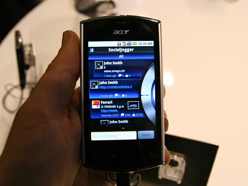 Acer liquidmini Hands-on