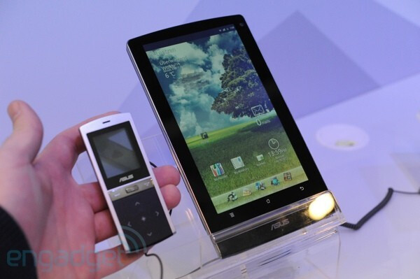 Image courtesy of Engadget - Asus Eee Pad MeMO 7-inch tablet could be bundled with MeMic, a Bluetooth handset
