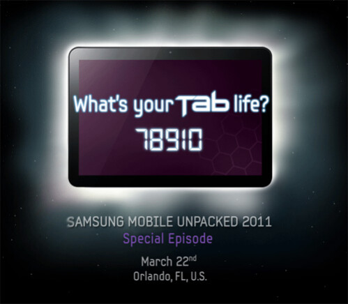 """Samsung is set to unveil its 8.9"""" Honeycomb tablet on March 22"""