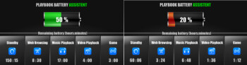 BlackBerry PlayBook application may give away the battery life of the tablet