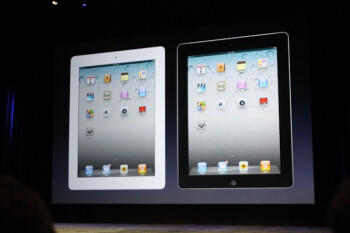 The iPad 2 will come in black or white