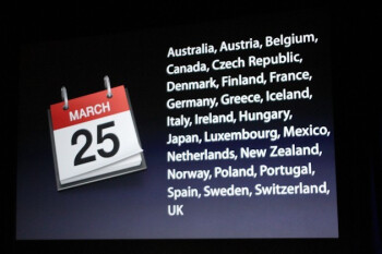 Countries that will soon see the iPad 2
