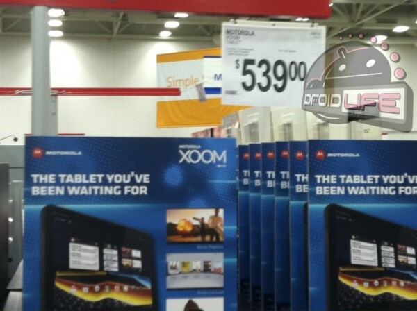 The Wi-Fi only version of the Motorola XOOM is being offered for $539 by Sam's Club - $539 will buy you a Wi-Fi only Motorola XOOM at Sam's Club
