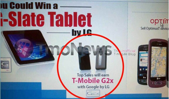 It looks like the LG Optimus 2X will come to the U.S. as the T-Mobile G2x - The dual core LG Optimus 2X is coming to the U.S. as the T-Mobile G2x?