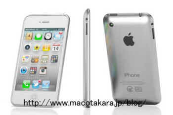 Macotakara mock-up of the next iPhone with aluminum back