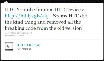 HTC's YouTube app for Windows Phone 7 now hacked for installation on any WP7 device
