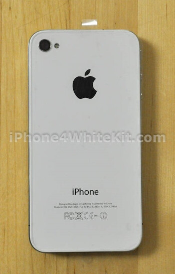 iPhone 4 made white with aftermarket conversion kit