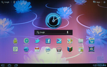 The 5 home screens can be filled with widgets