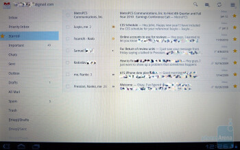 Emails in Honeycomb