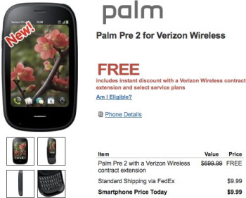 HP takes a leap forward in quickly dropping the price of the Palm Pre 2 to free