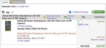 $329 Nokia N8 bargain expires in 4 days