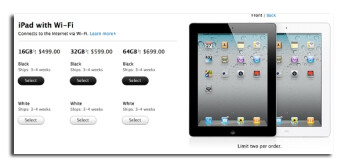 Anyone ordering the Apple iPad 2 on Saturday night has a 1 month wait in front of them